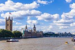 Pałac Westminister ` s piękna architektura i Big Ben ja Obraz Royalty Free