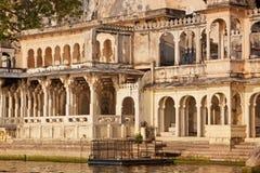 Pałacowy dostęp Jeziorny Pichhola, Udaipur Obrazy Royalty Free