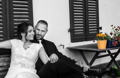 Państwa Młodzi małżeństwa pojęcie obrazy stock