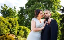 Państwa Młodzi małżeństwa pojęcie zdjęcie royalty free