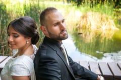 Państwa Młodzi małżeństwa pojęcie obraz stock