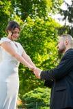 Państwa Młodzi małżeństwa pojęcie zdjęcie stock