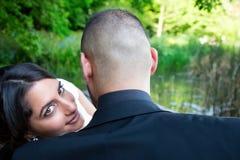 Państwa Młodzi małżeństwa pojęcie obraz royalty free