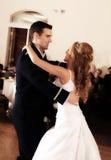 Państwo Młodzi Najpierw Tanczy Zdjęcie Stock
