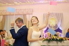 Państwo młodzi przy ślubem obrazy stock