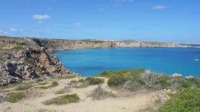 Październik 2017, Ciutadella, Minorca Słoneczny dzień w jeden Balearic wyspy Zdjęcia Stock