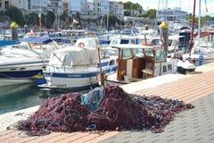 Październik 2017, Ciutadella, Minorca Słoneczny dzień w jeden Balearic wyspy Zdjęcia Royalty Free