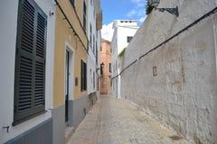 Październik 2017, Ciutadella, Minorca Słoneczny dzień w jeden Balearic wyspy Fotografia Stock
