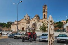 Październik 2015, Dipcarpaz, Północny Cypr - Stary ortodoksyjny Ayios Synesios kościół w Rizokarpaso zdjęcie stock