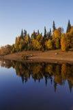Październik jezioro Zdjęcia Royalty Free