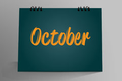 Październik Pisać w Desktop kalendarzu Obraz Royalty Free