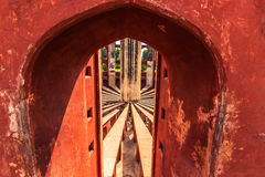 Październik 27, 2014: Szczegół Jantar Mantar obserwatorium w Nowym Obrazy Stock