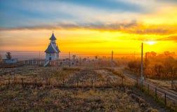 Października krajobraz w wsi Fotografia Stock