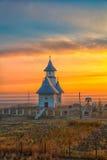 Października krajobraz w wsi Obrazy Royalty Free