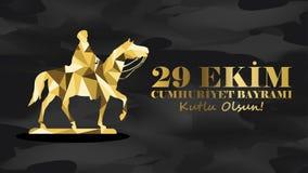 Października 29 republiki dzień Fotografia Royalty Free
