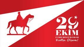 Października 29 republiki dzień Obraz Stock
