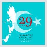 29 Października republiki Krajowy dzień Turcja Obraz Royalty Free