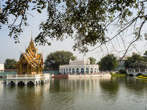 PA челки в дворце в Таиланде Стоковое Фото