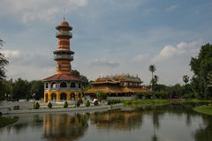PA челки в дворце в Ayutthaya Стоковое Изображение RF