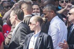 PA :希拉里・克林顿的贝拉克・奥巴马总统在费城 免版税库存照片