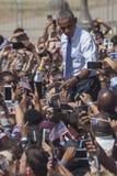 PA :希拉里・克林顿的贝拉克・奥巴马总统在费城 库存图片