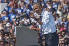 PA :希拉里・克林顿的贝拉克・奥巴马总统在费城 免版税库存图片