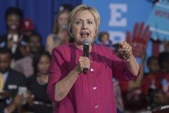 PA :希拉里・克林顿费城选民登记 免版税库存图片