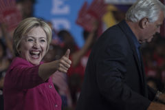 PA :希拉里・克林顿费城选民登记 库存照片