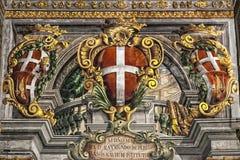 Pałac fresk Zdjęcia Royalty Free