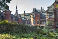 Pałac i parka kompleks w Plawniowice w Polska Obraz Stock