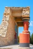 Pałac Knossos krety Greece Zdjęcia Stock