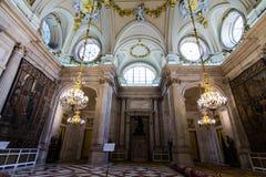 pałac królewski pincipal madryt boczne Hiszpanii Zdjęcia Royalty Free