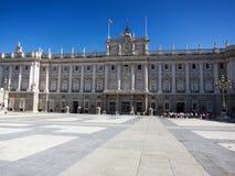 Pałac królewski w Madryt Zdjęcia Royalty Free