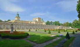 Pałac królewski w Wilanow Obrazy Stock