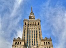 pałac kultury Warsaw Obraz Royalty Free