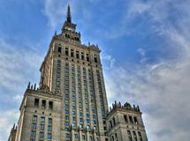 pałac kultury Warsaw Zdjęcie Royalty Free