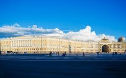 Pałac kwadrat centralne miasto kwadrat St Petersburg Zdjęcia Royalty Free