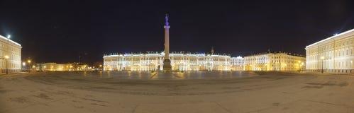 Pałac kwadrat w St Petersburg panoramicznym widoku Fotografia Royalty Free