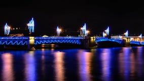 Pałac most Neva Rzeka Obrazy Stock