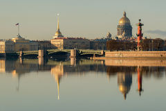 Pałac most Neva Rzeka Obrazy Royalty Free
