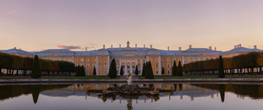 pałac peterhof Petersburg Russia st Obraz Royalty Free