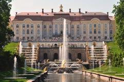 pałac peterhof Petersburg sankt target185_0_ Zdjęcie Stock