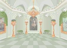 Pałac sala Obrazy Royalty Free