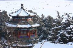pałac snowscape lato zdjęcie stock
