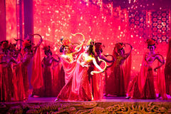 Pałac tancerze--Dziejowa stylowa piosenki i tana dramata magiczna magia - Gan Po Zdjęcia Stock