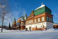 Pałac Tsar Alexei Mikhailovich w Kolomenskoye, Moskwa, Rosja Obrazy Royalty Free