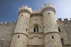 Pałac Uroczysty mistrz rycerze Rhodes Zdjęcie Royalty Free