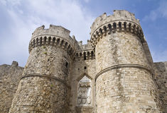 Pałac Uroczysty mistrz rycerze Rhodes Obrazy Royalty Free