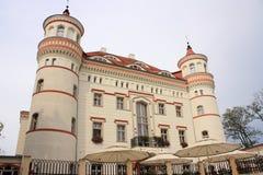 Pałac w Wojanow blisko Jelenia Gora Polska fotografia royalty free