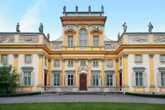 pałac Warsaw wilanow Zdjęcia Stock
